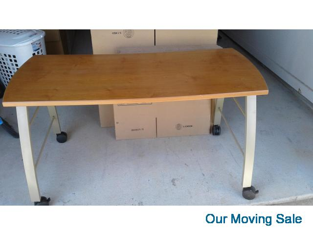 Super Work Table With Casters Home Office Computer Frisco Our Download Free Architecture Designs Grimeyleaguecom